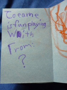 Written on card: Joanne is fun playing with. From ?