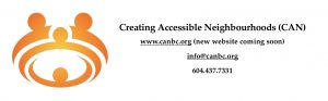 Logo for Creating Accessible Neighbourhoods www.CANBC.org